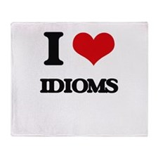 I Love Idioms Throw Blanket