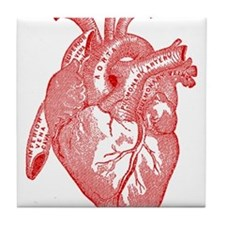 Anatomical Heart - Red Tile Coaster