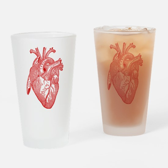Anatomical Heart - Red Drinking Glass