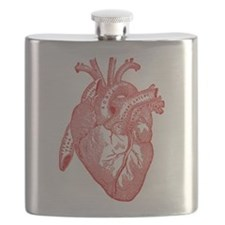 Anatomical Heart - Red Flask