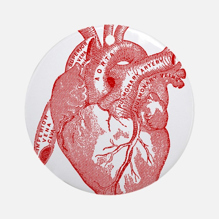 Anatomical Heart - Red Ornament (Round)