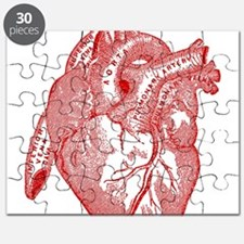 Anatomical Heart - Red Puzzle