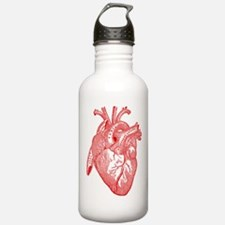 Anatomical Heart - Red Water Bottle