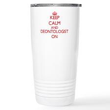 Keep Calm and Deontolog Travel Mug