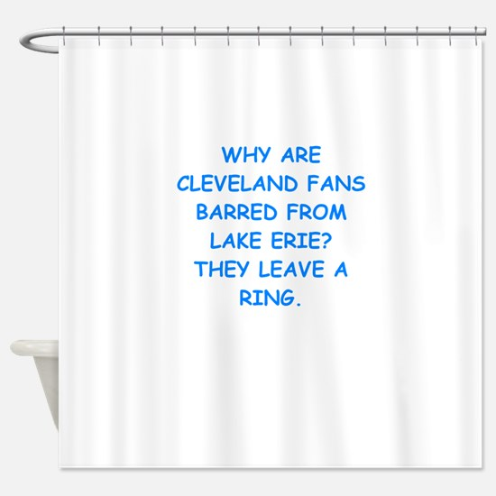 cleveland fans Shower Curtain