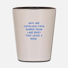 cleveland fans Shot Glass