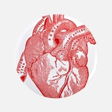 """Anatomical Heart - Red 3.5"""" Button"""