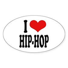 I Love Hip-Hop Oval Decal