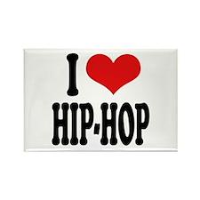 I Love Hip-Hop Rectangle Magnet