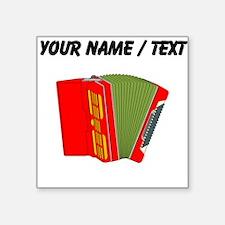 Custom Red Accordion Sticker