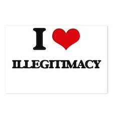 I Love Illegitimacy Postcards (Package of 8)
