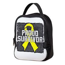 Testicular Cancer Neoprene Lunch Bag