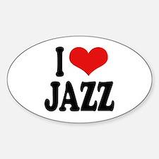 I Love Jazz Oval Decal