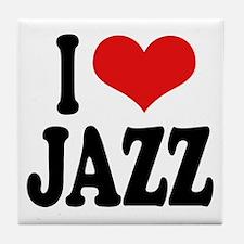 I Love Jazz Tile Coaster