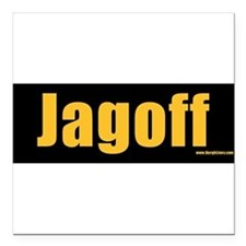 "Funny Pittsburgh Square Car Magnet 3"" x 3"""