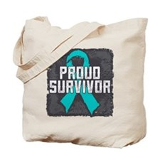 Proud Ovarian Cancer Tote Bag