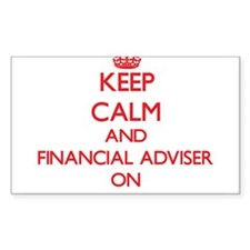 Keep Calm and Financial Adviser ON Decal