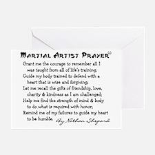 Martial Artist Prayer Greeting Cards