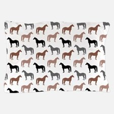 Elegant Horse Pattern Pillow Case