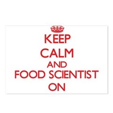 Keep Calm and Food Scient Postcards (Package of 8)