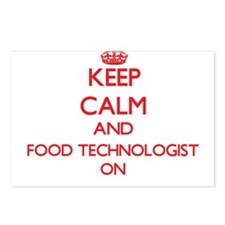 Keep Calm and Food Techno Postcards (Package of 8)