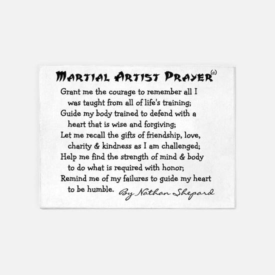 Martial Arts Student 5'x7'Area Rug