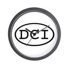 DCI Oval Wall Clock