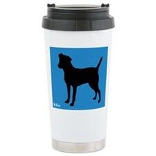 Cute Patterdale dog Travel Mug