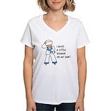 Seaman Womens V-Neck T-shirts