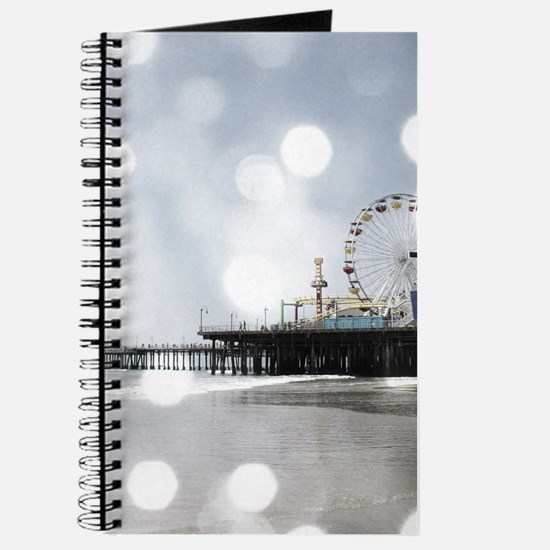 Grey Sparkling Pier Journal