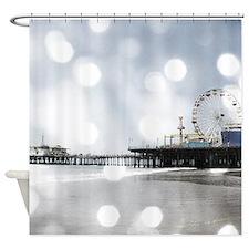 Grey Sparkling Pier Shower Curtain