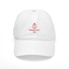 Keep Calm and Genealogist ON Baseball Cap