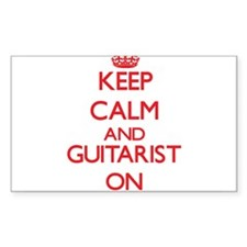Keep Calm and Guitarist ON Decal