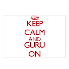 Keep Calm and Guru ON Postcards (Package of 8)