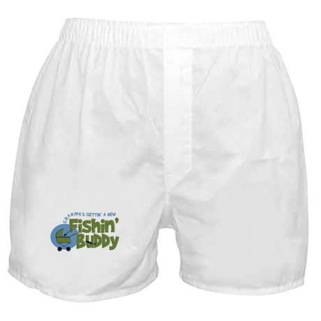 Grandpa's New Fishing Buddy Boxer Shorts