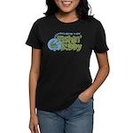 Grandpa's New Fishing Buddy Women's Dark T-Shirt