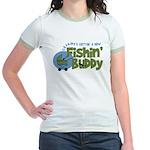Grandpa's New Fishing Buddy Jr. Ringer T-Shirt