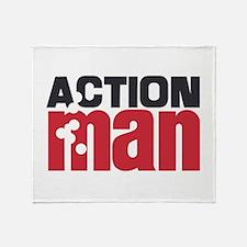 Action Man Throw Blanket