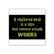 "Cute Business humor Square Sticker 3"" x 3"""