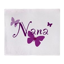 Nana Butterflys Throw Blanket