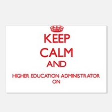 Keep Calm and Higher Educ Postcards (Package of 8)