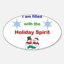 Filled with the Holiday Spirit Decal