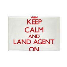Keep Calm and Land Agent ON Magnets