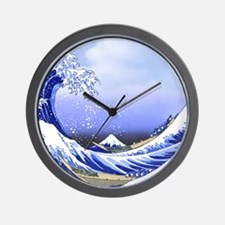 Hokusai Surf's Up! Great Wave Wall Clock