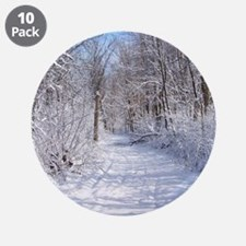 """Snow Trail Scenery 3.5"""" Button (10 pack)"""