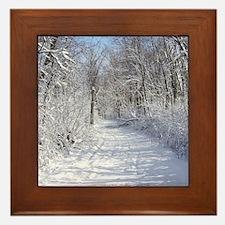 Snow Trail Scenery Framed Tile
