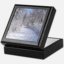 Snow Trail Scenery Keepsake Box