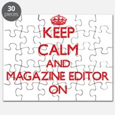 Keep Calm and Magazine Editor ON Puzzle