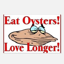 eat oysters love longer Postcards (Package of 8)