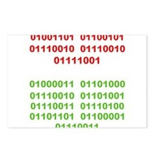 Merry Christmas in Binary Postcards (Package of 8)